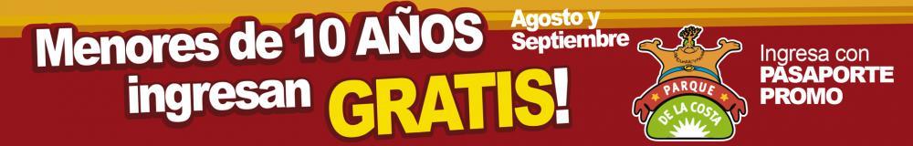 EN AGOSTO Y SEPTIEMBRE MENORES DE HASTA 10 AÑOS GRATIS!