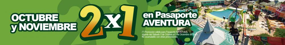 NOVIEMBRE 2X1 EN PASAPORTE AVENTURA!